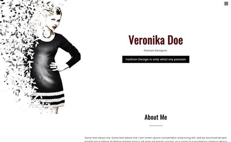 Veronikadoe Html5 Fashion Design Portfolio Template Themevault Fashion Portfolio Template