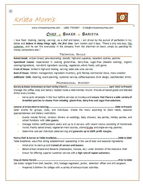 professional chef resume exle professional resume sles resume exles and