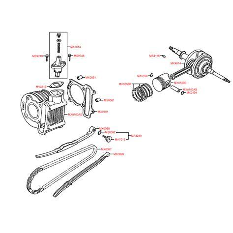 Piston Tdr 64 5mm Pen 15 e03 cylinder piston crankshaft