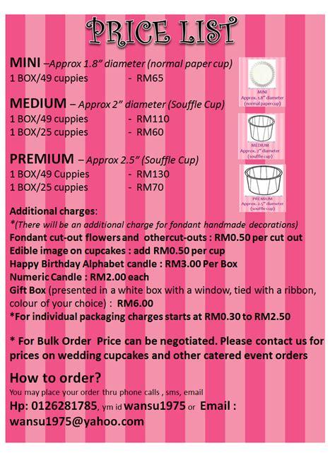 cake price list template image cake price list