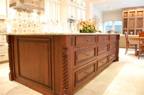 kitchen islands with posts custom cut legs to fit your kitchen island osborne wood