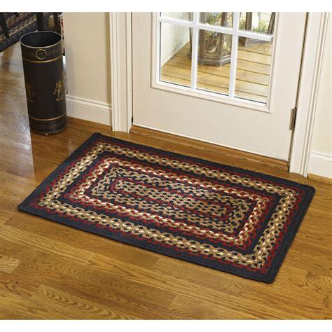 park designs rugs country park designs black cotton braided area rug ebay
