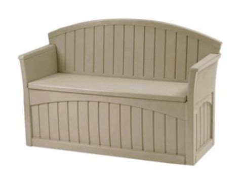 plastic bench with storage patio storage bench plastic box 2 seats outdoor furniture