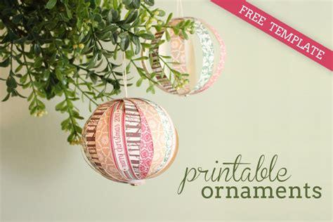 printable christmas decorations to make diy tutorial free printable paper christmas ornaments