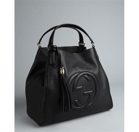 Gucci Soho Leather Backpack Ss17 18 gucci black textured leather soho large tote in black lyst