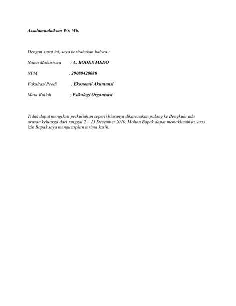 contoh surat izin kuliah contoh surat materi service laptop
