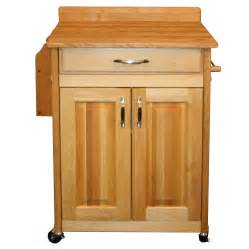 Solid wood kitchen cart with double door cabinet 11406772