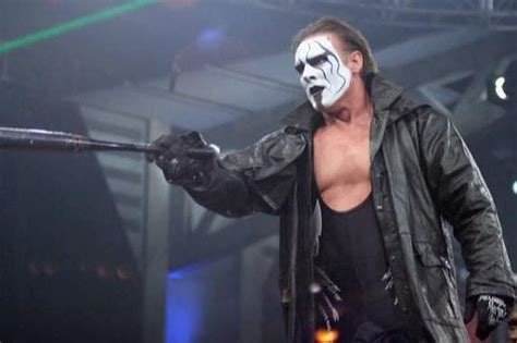 wrestler sting w gis blonde hair wwe tna news sting still has wwe and undertaker on his