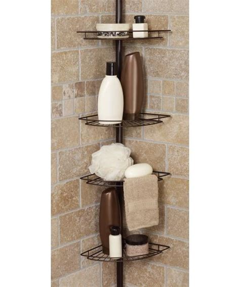 zenith bathtub and shower pole caddy zenith tub and shower tension pole caddy from hayneedle com