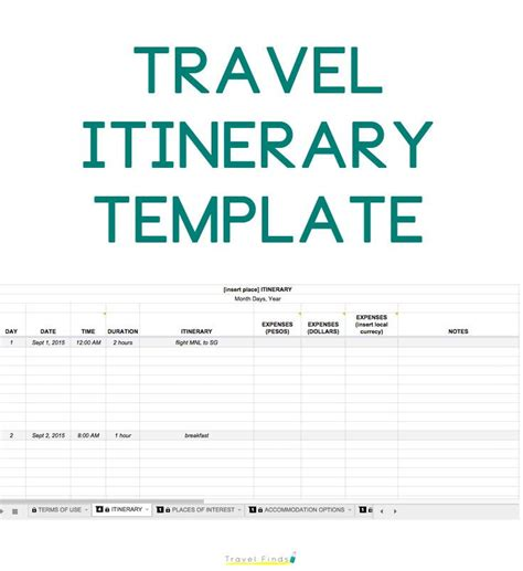out of plan template 25 best ideas about travel itinerary template on