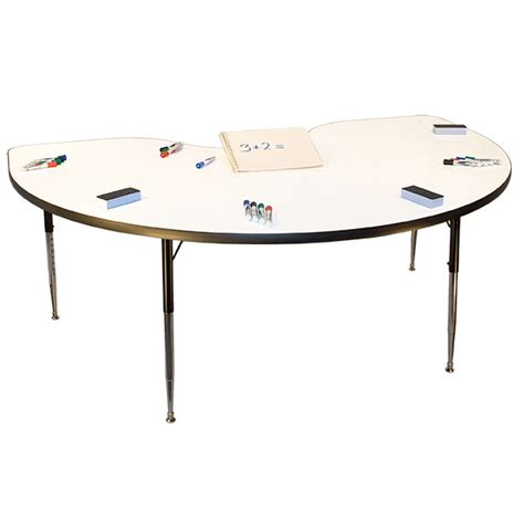 Whiteboard Table by Allied 36 Quot X 72 Quot Kidney Whiteboard Table Schoolsin