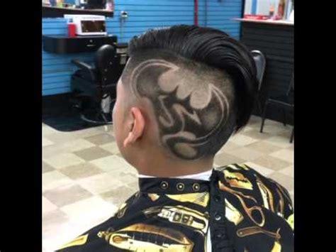 batman hair tattoo batman vs superman hair cut design by masterdorian youtube