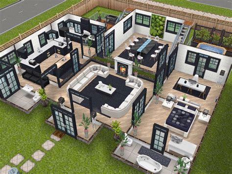 House Layout Sims | house 75 remodelled player designed house ground level