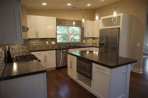 slate appliances with gray cabinets slate appliances countertops glass backsplash