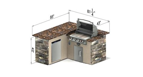 Granite Top Kitchen Island With Seating select series backstretch outdoor kitchen island