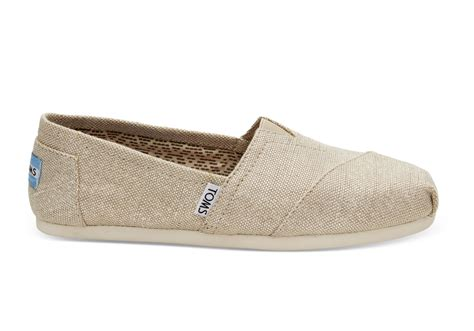 toms shoes metallic burlap s classics toms 174