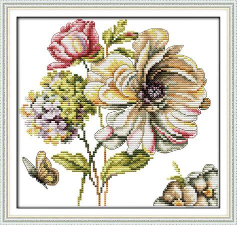 wohnkultur stich kaufen gro 223 handel kreuzstich hortensien aus china