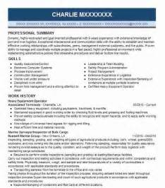 best heavy equipment operator resume exle livecareer