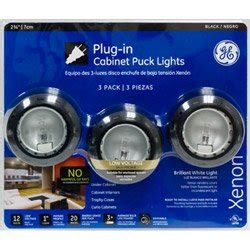 Ge Premium Linkable Xenon Ucf Puck Light Kit Black 10266 Ge Xenon Cabinet Lighting