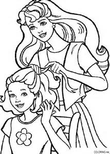 coloring barbie hairdressing coloring