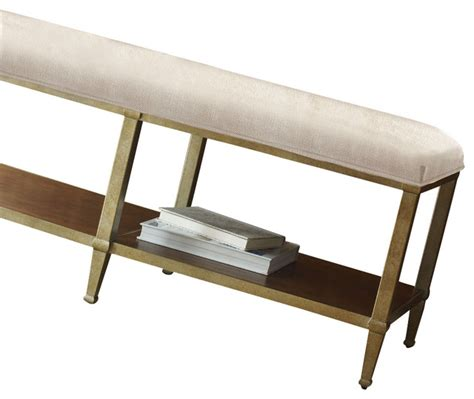 contemporary bedroom benches sunset canyon metal base bed bench contemporary