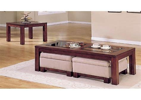 coffee table with storage ottomans underneath unique