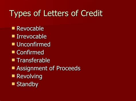Letter Of Credit Assignment Of Proceeds Form Letter Of Credit