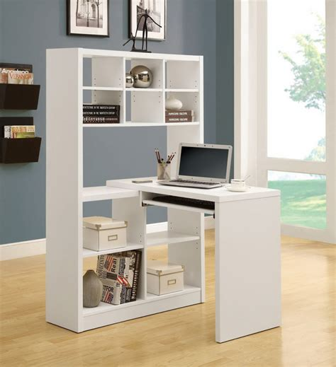 computer desk with bookshelf 12 space saving designs using small corner desks