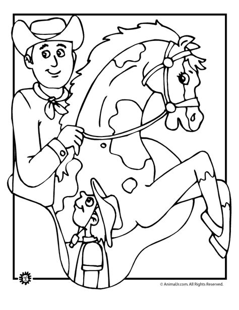 Cowboy Coloring Page Coloring Home And Cowboy Coloring Pages Printable