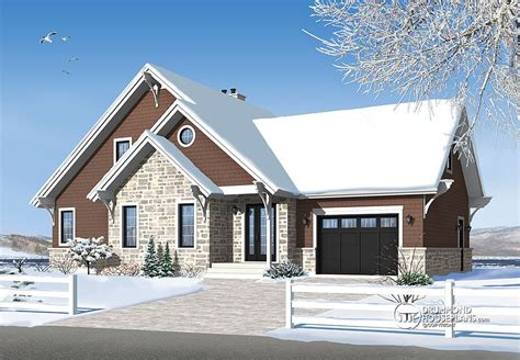 chalet house plans with garage chalet with garage added drummond house plans blog