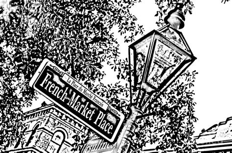 french quarter coloring page french quarter french market street sign new orleans