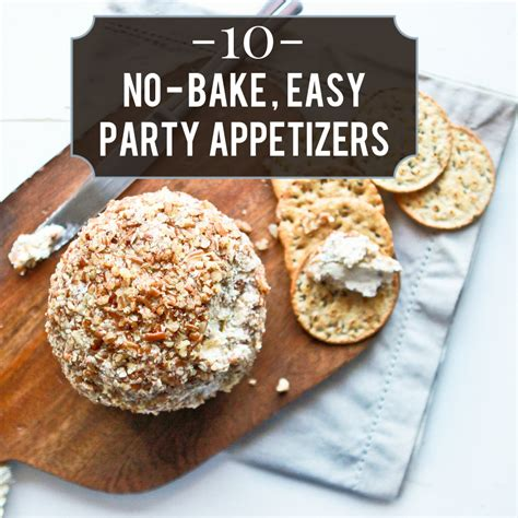 the easiest no bake holiday appetizers