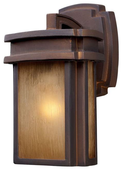 Southwestern Outdoor Lighting Sedona 1 Light Outdoor Sconce In Hazelnut Bronze Southwestern Outdoor Wall Lights And