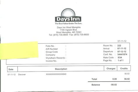 motel 6 receipt template days inn west ar hotel reviews tripadvisor