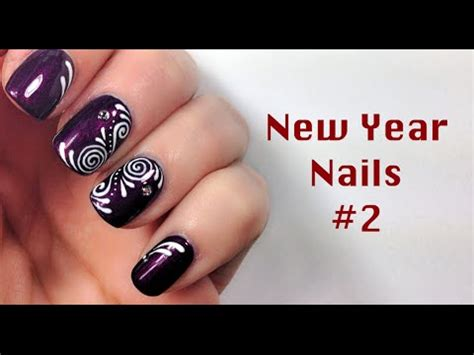 tutorial nail art mikeligna new year nails 2 nail art 2d tutorial mikeligna youtube