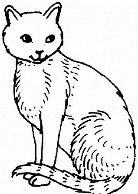 printable coloring page of a cat free printable cat coloring pages for kids