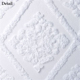 Belle White Cotton Chenille Shower Curtain