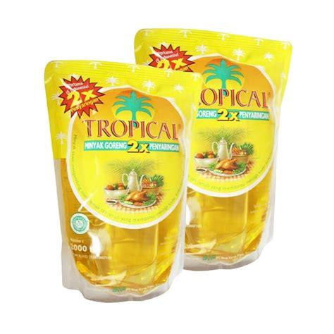 Minyak Goreng Liter jual tropical minyak goreng 2 liter 2 pouch harga kualitas terjamin blibli
