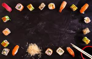 japanese food frame sushi food amp drink photos on creative market