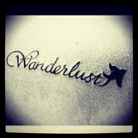 wanderlust tattoos wanderlust with bird
