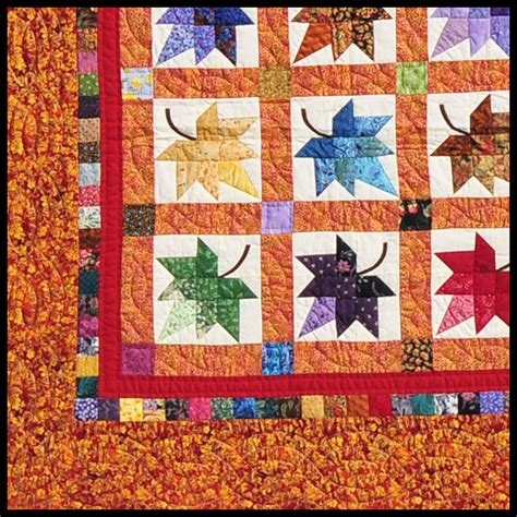 Handmade Quilt Patterns - amish quilts autumn splendor quilts handmade amish