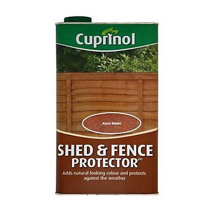 Cuprinol Shed And Fence Preserver Golden Brown by Ronseal One Coat Fence Tudor Harvest Gold 9l