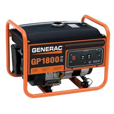 generac 1 800 watt gasoline powered portable generator