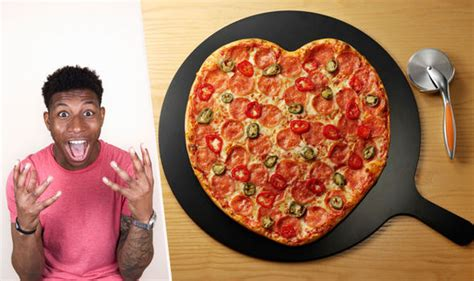 pizza express valentines day pizza is selling shaped pizzas for s