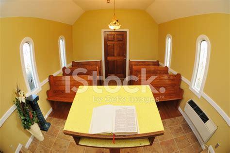 small church sanctuary  bible stock