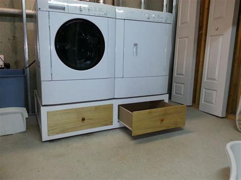 diy washing machine pedestal with drawers washer dryer pedestal johnmeeley lumberjocks washer