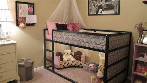 girly bunk beds girly kura bed hack ikea hackers ikea hackers