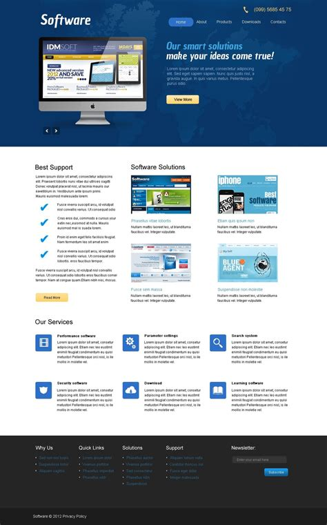 Software Website Template Web Design Templates Website Templates Download Software Website Website Template Design Software