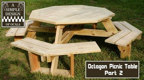 build  octagon picnic table part  youtube