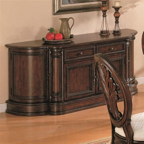 coaster tabitha 101034b traditional buffet del sol